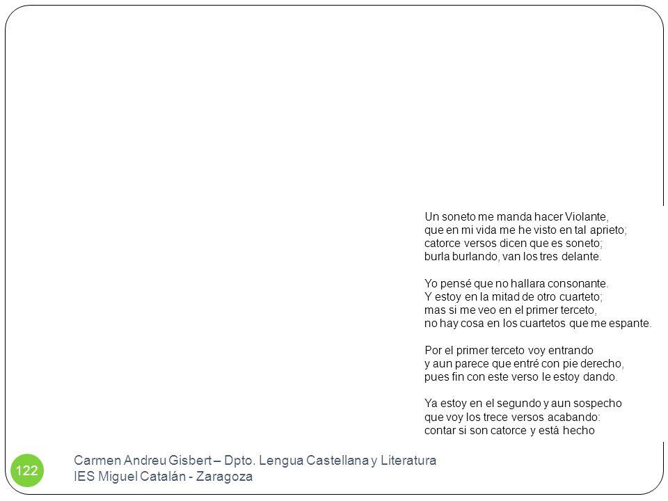 Carmen Andreu Gisbert – Dpto. Lengua Castellana y Literatura