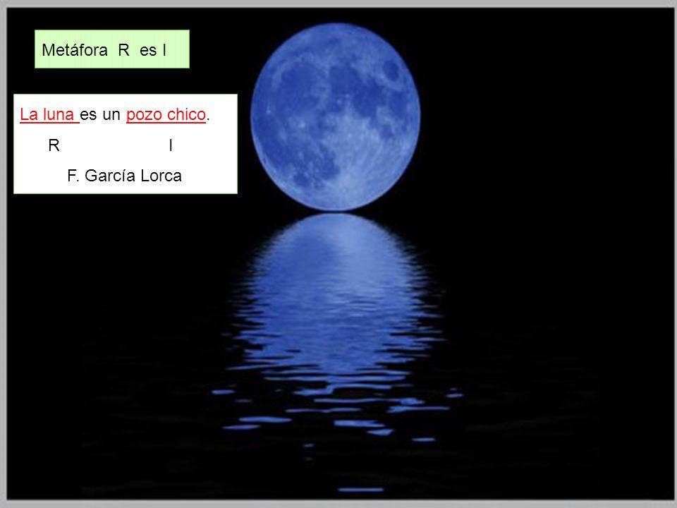 Metáfora R es I La luna es un pozo chico. R I F. García Lorca