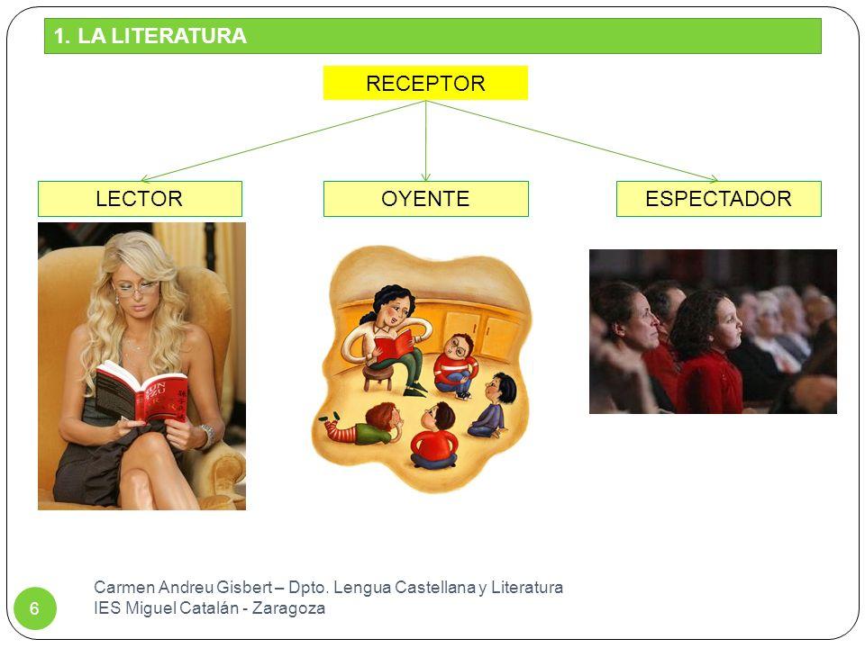1. LA LITERATURA RECEPTOR LECTOR OYENTE ESPECTADOR