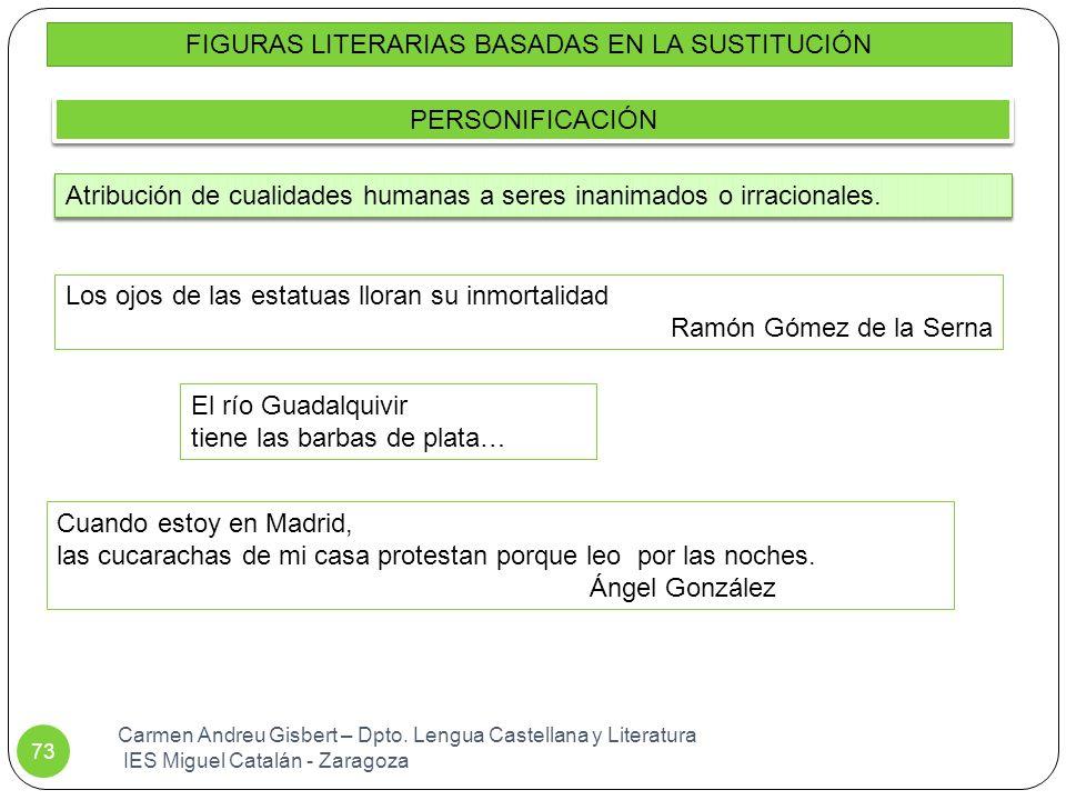 FIGURAS LITERARIAS BASADAS EN LA SUSTITUCIÓN