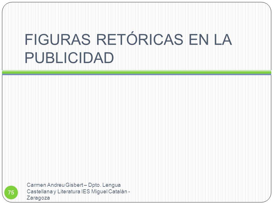 FIGURAS RETÓRICAS EN LA PUBLICIDAD
