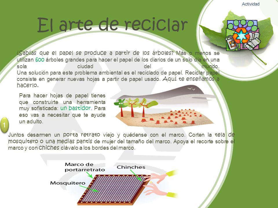 Actividad El arte de reciclar.