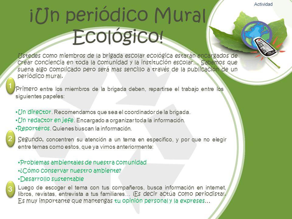 ¡Un periódico Mural Ecológico!