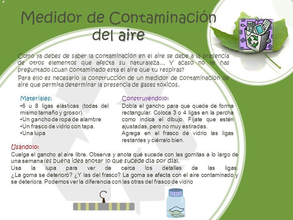 Medidor de Contaminación del aire