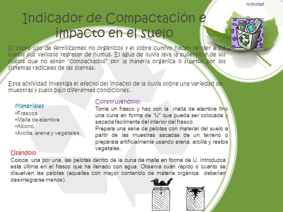 Indicador de Compactación e impacto en el suelo