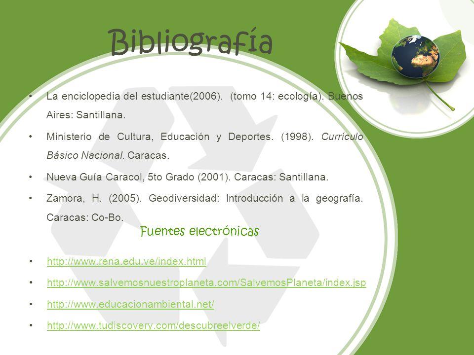 Bibliografía Fuentes electrónicas