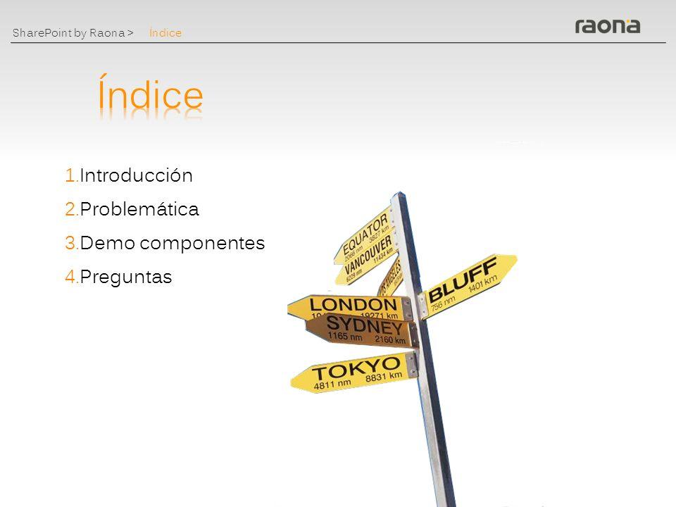 Índice Índice Introducción Problemática Demo componentes Preguntas