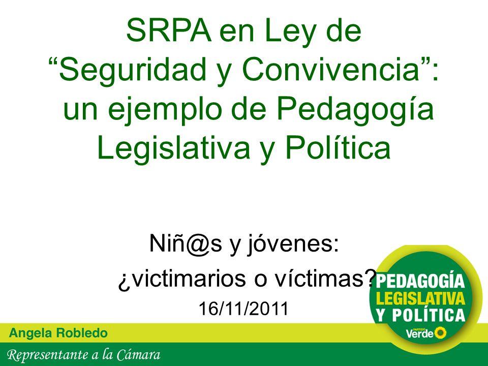Niñ@s y jóvenes: ¿victimarios o víctimas 16/11/2011