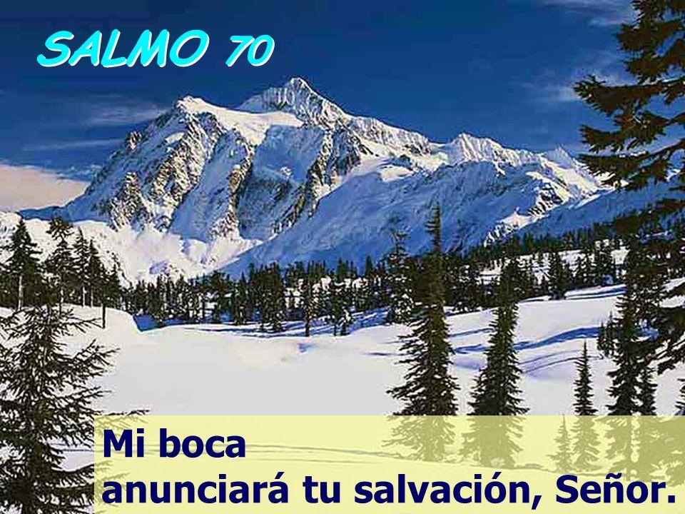 SALMO 70 Mi boca anunciará tu salvación, Señor.