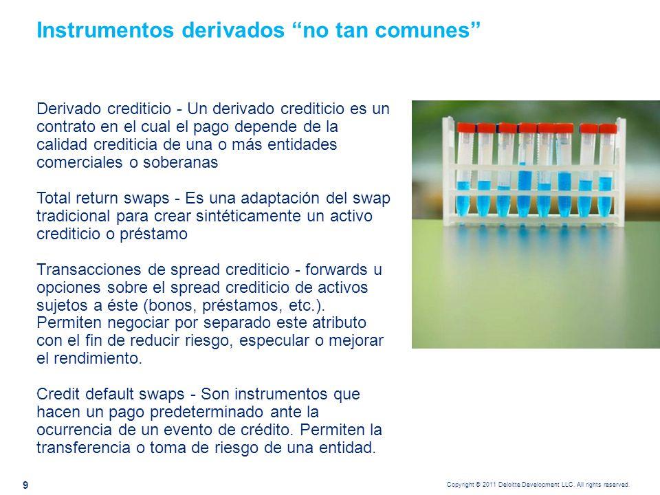 Instrumentos derivados no tan comunes