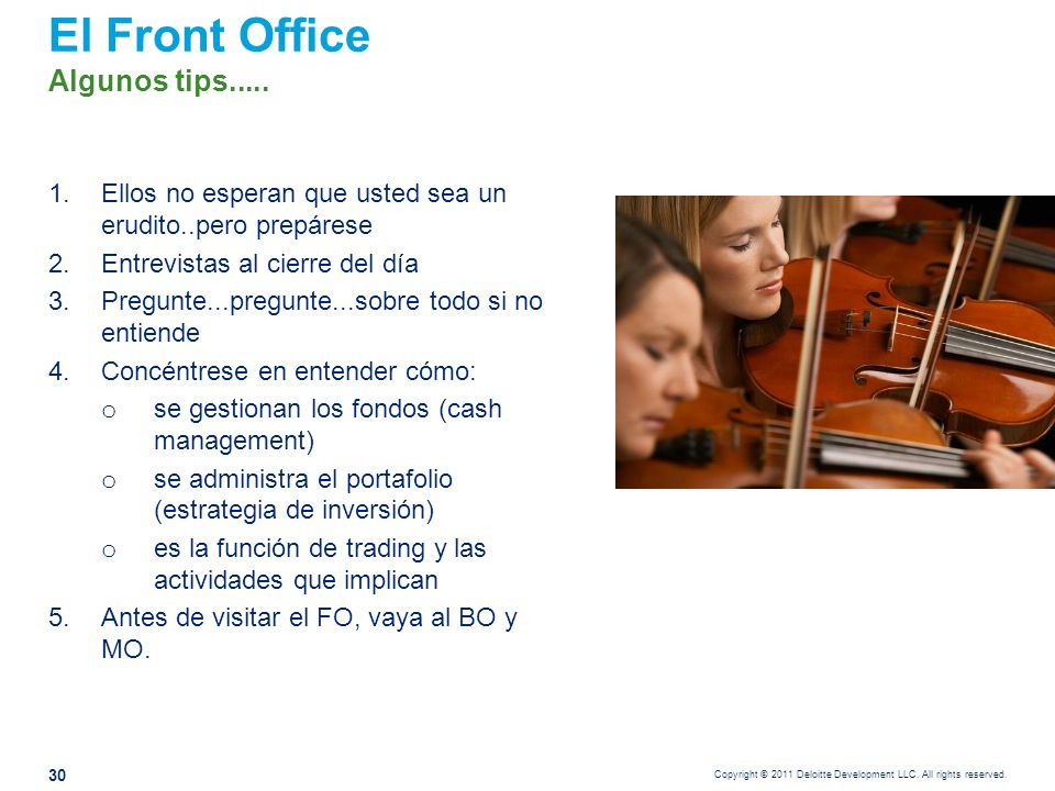 Riesgos claves del Front Office