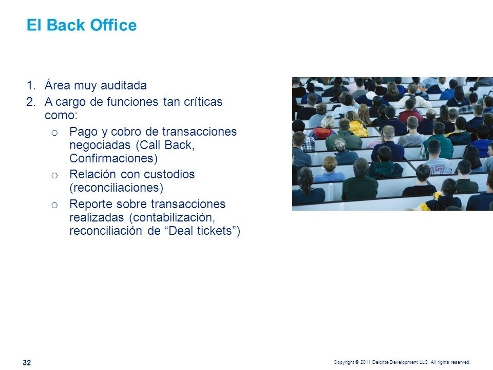 Riesgos claves del Back Office