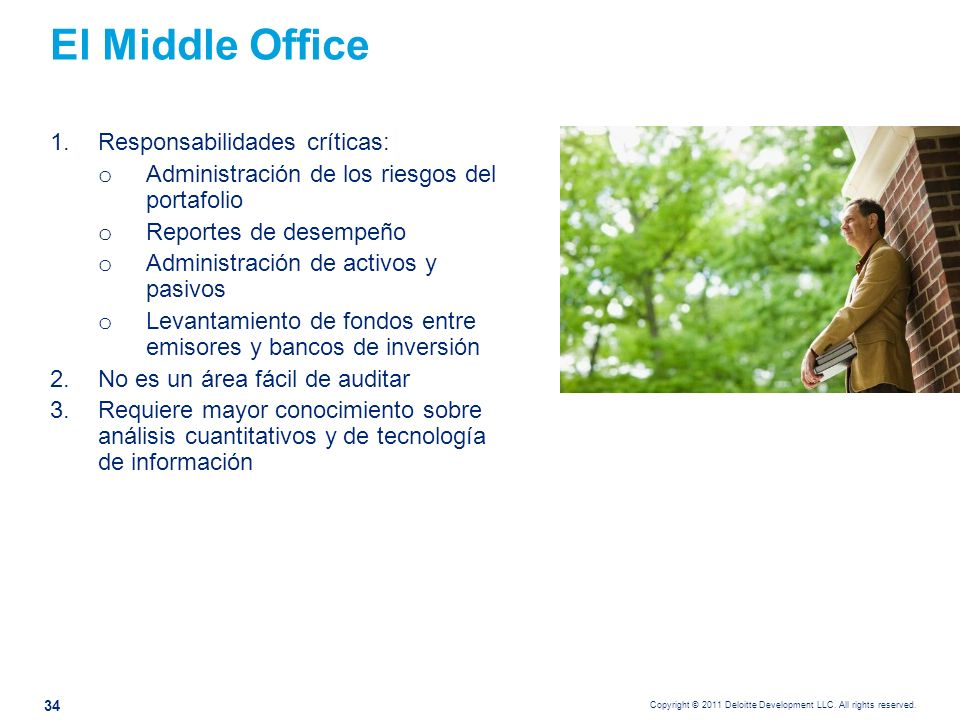 La gestión del riesgo en el middle office