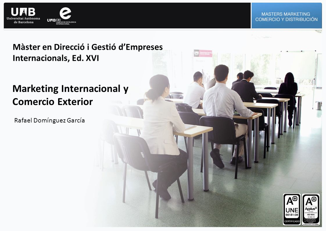 Marketing Internacional y Comercio Exterior