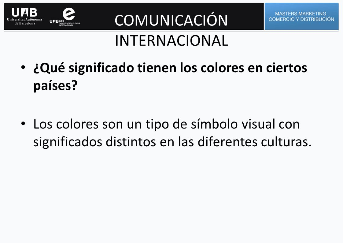 COMUNICACIÓN INTERNACIONAL