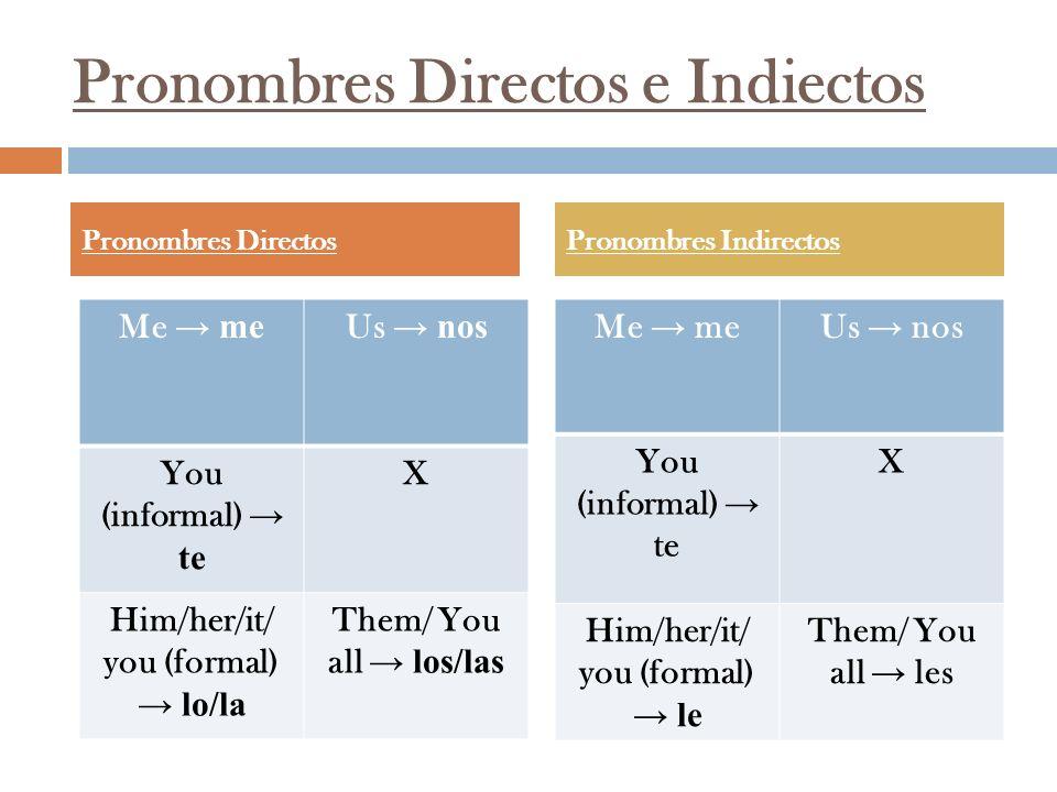 Pronombres Directos e Indiectos