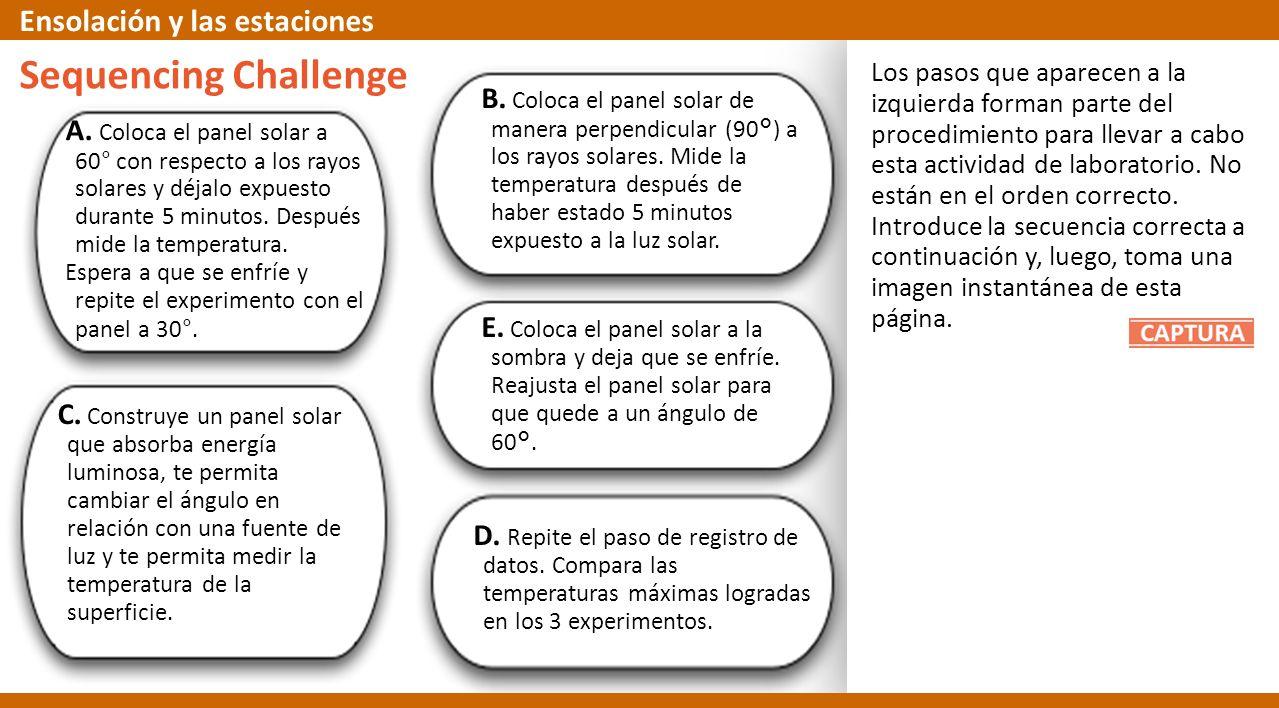 Sequencing Challenge Ensolación y las estaciones