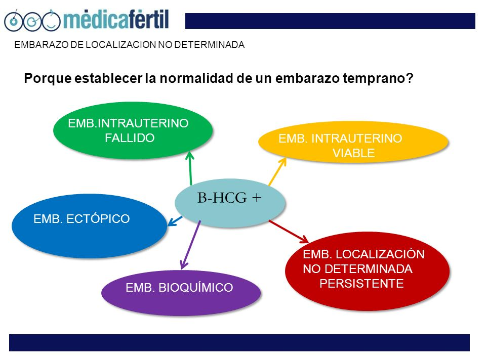 Β-HCG + Porque establecer la normalidad de un embarazo temprano