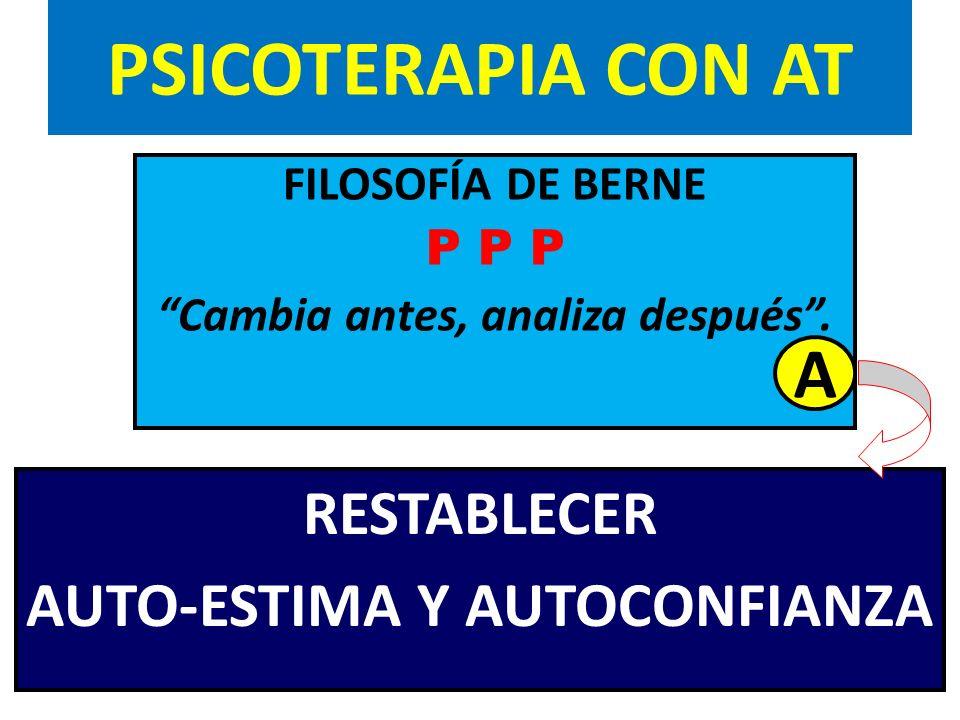 PSICOTERAPIA CON AT A RESTABLECER AUTO-ESTIMA Y AUTOCONFIANZA
