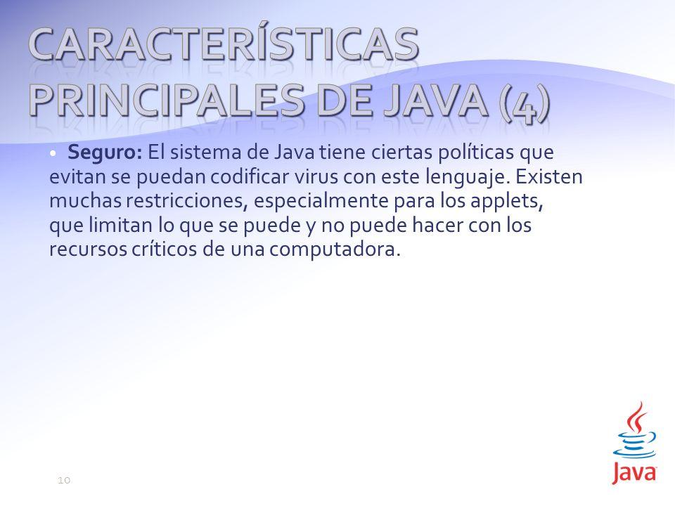 Características principales de Java (4)