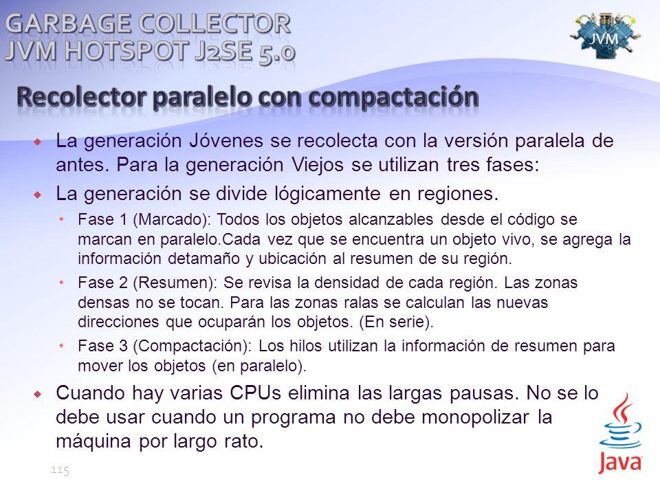 Recolector paralelo con compactación