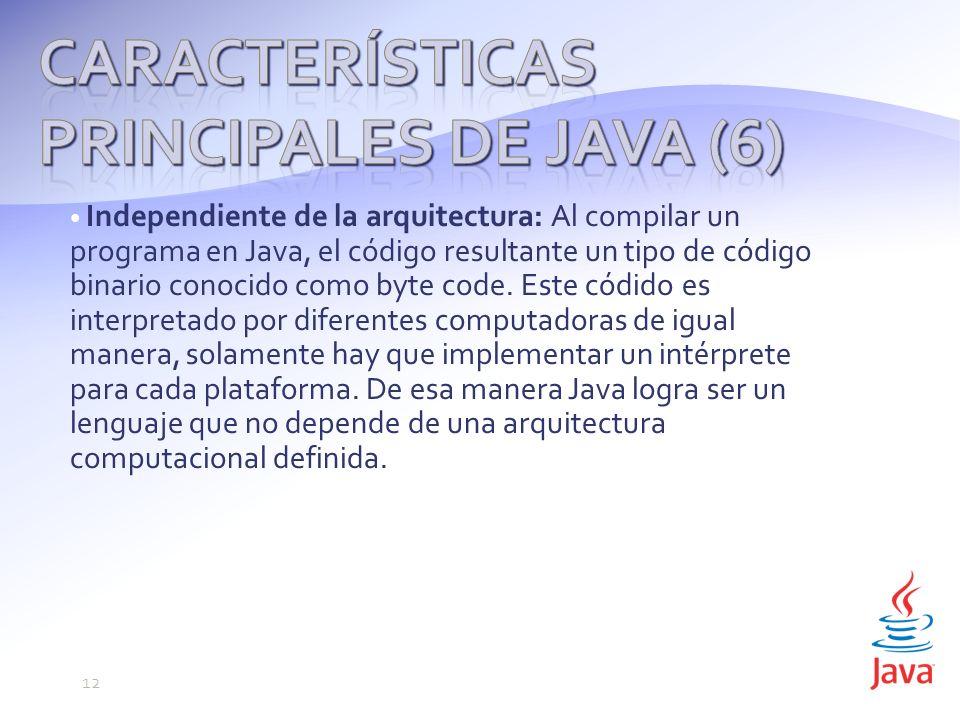 Características principales de Java (6)
