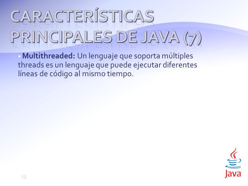Características principales de Java (7)
