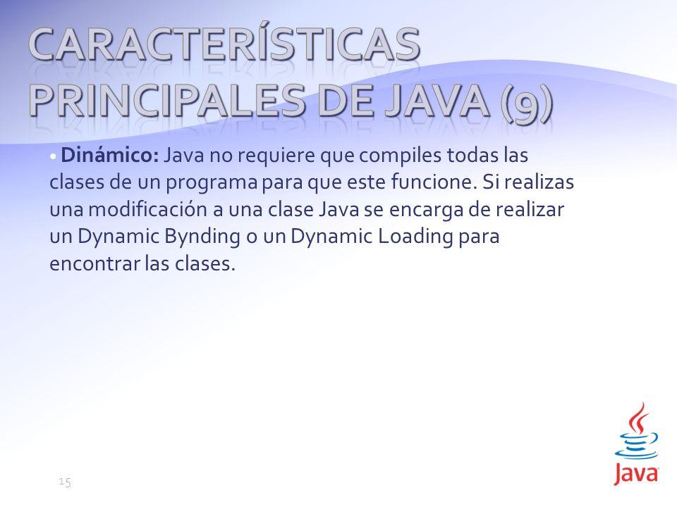 Características principales de Java (9)