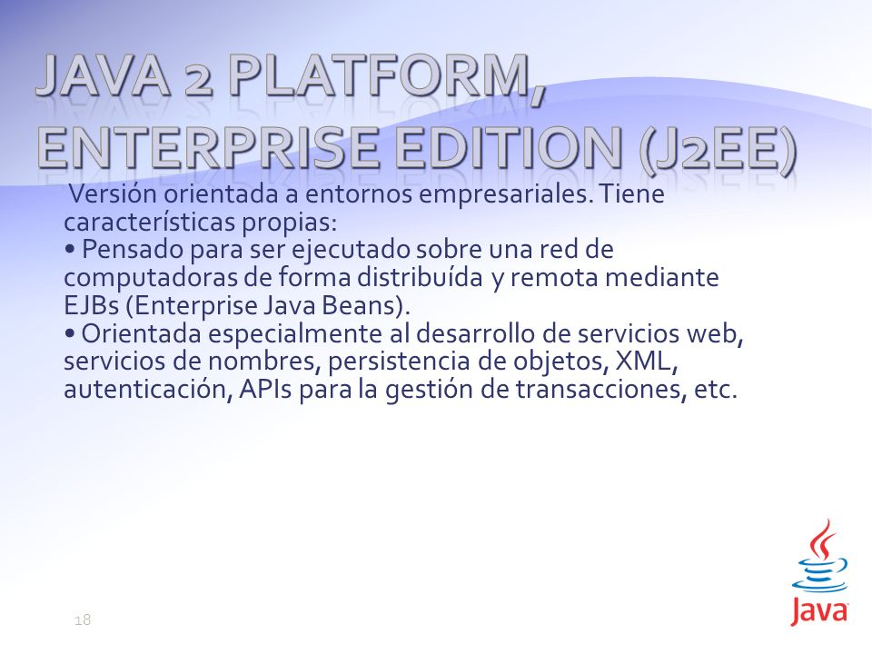 Java 2 Platform, Enterprise Edition (J2EE)
