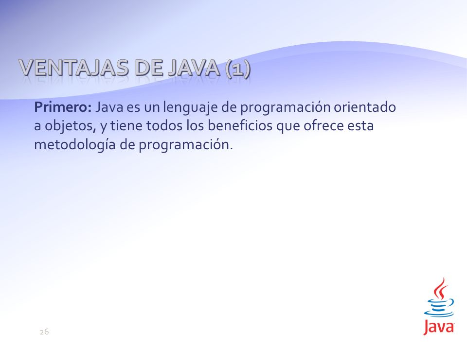 Ventajas de Java (1)