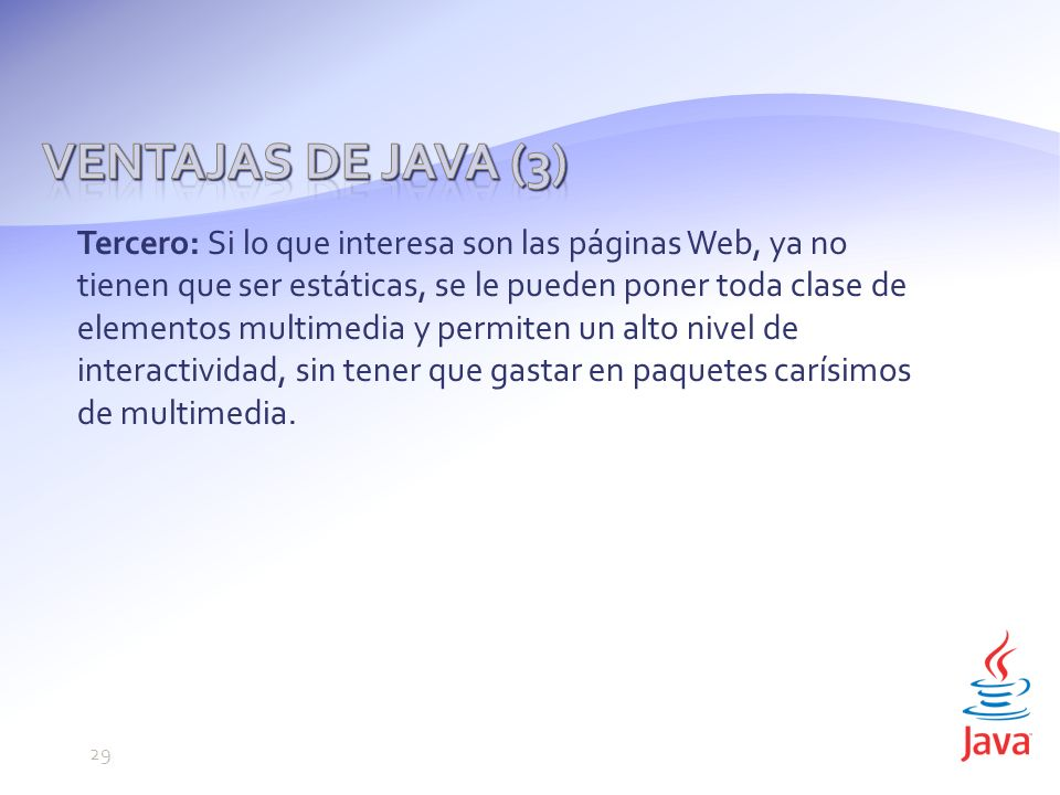 Ventajas de Java (3)