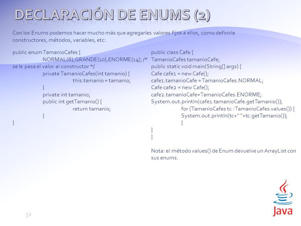 Declaración de Enums (2)