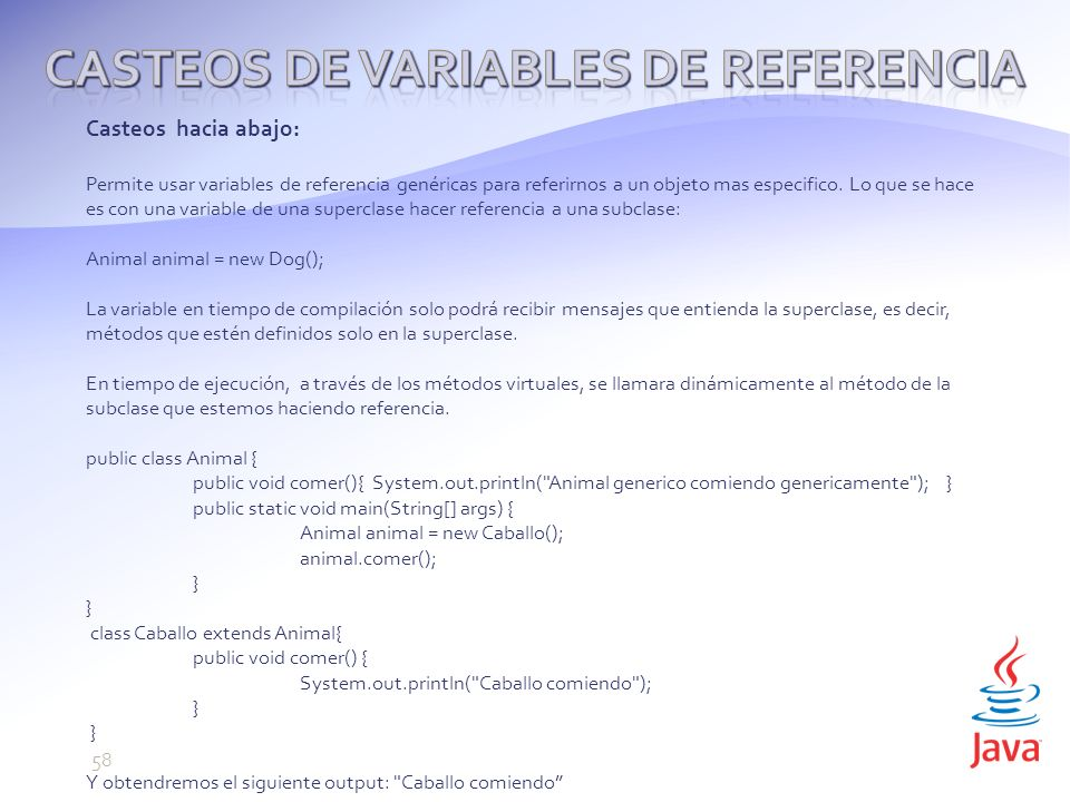 Casteos de variables de referencia