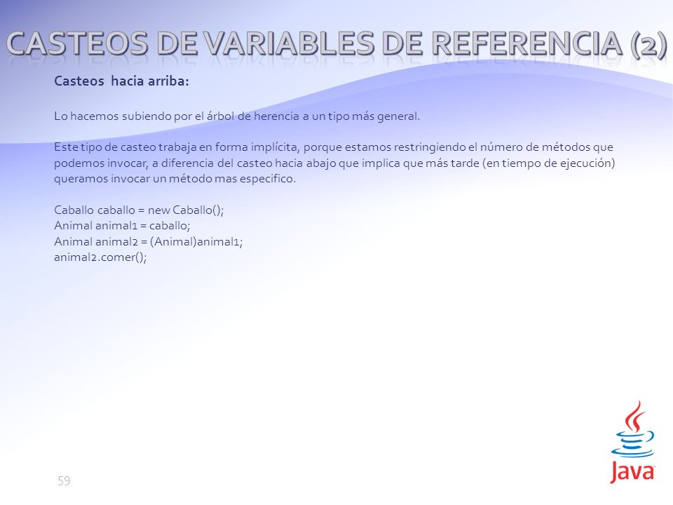 Casteos de variables de referencia (2)