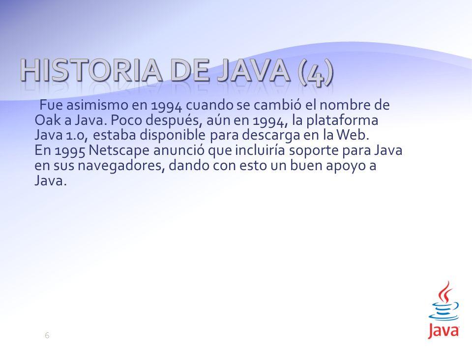 Historia de Java (4)