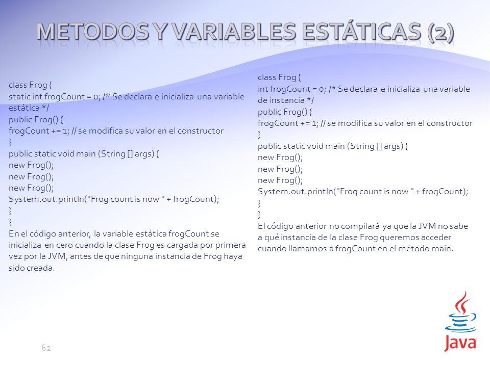 Metodos y variables estáticas (2)