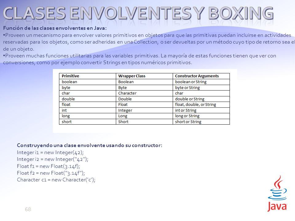 CLASES ENVOLVENTES Y BOXING