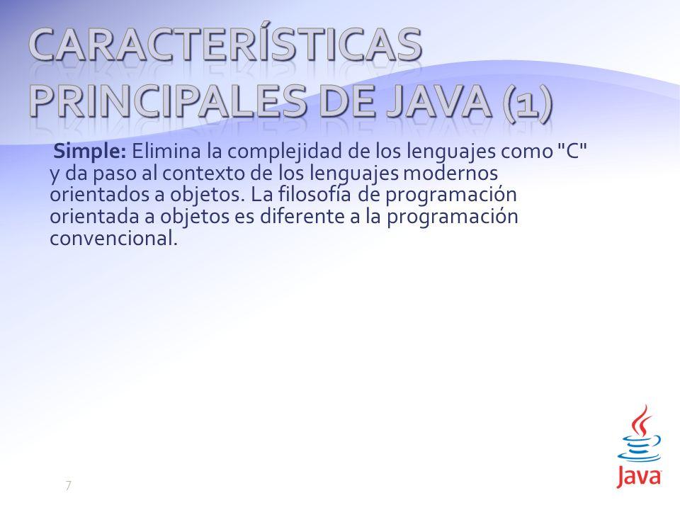 Características principales de Java (1)