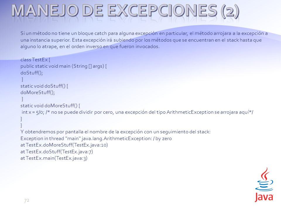 Manejo de Excepciones (2)
