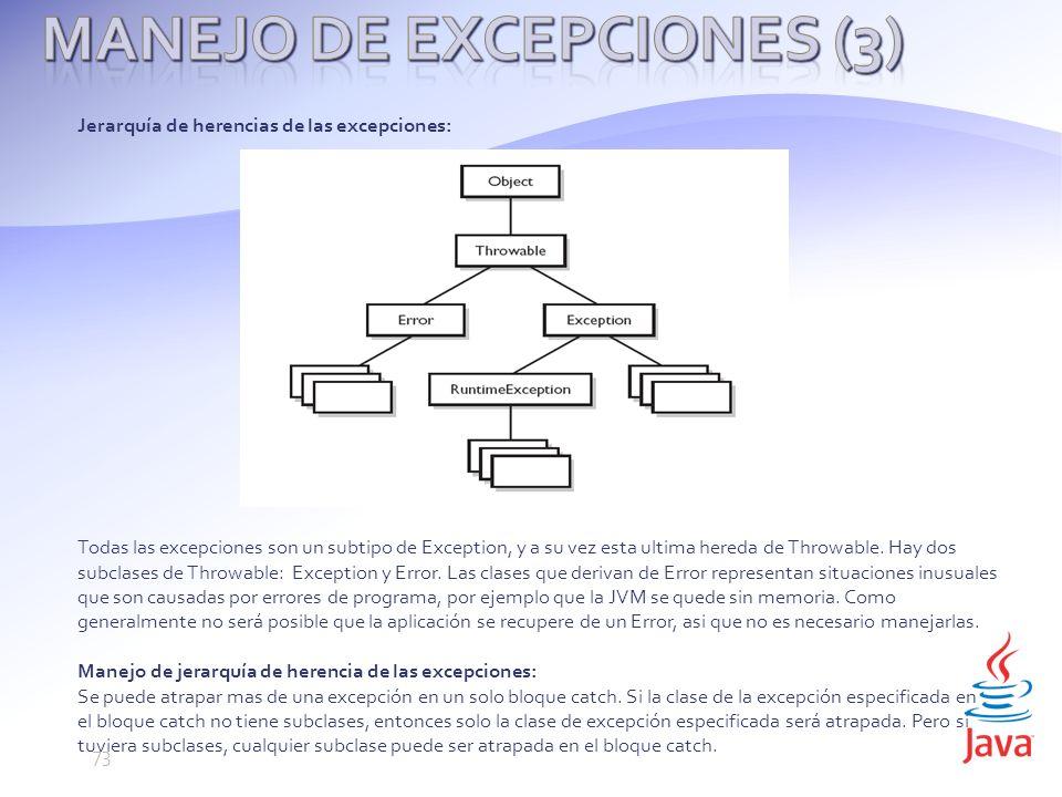 Manejo de Excepciones (3)