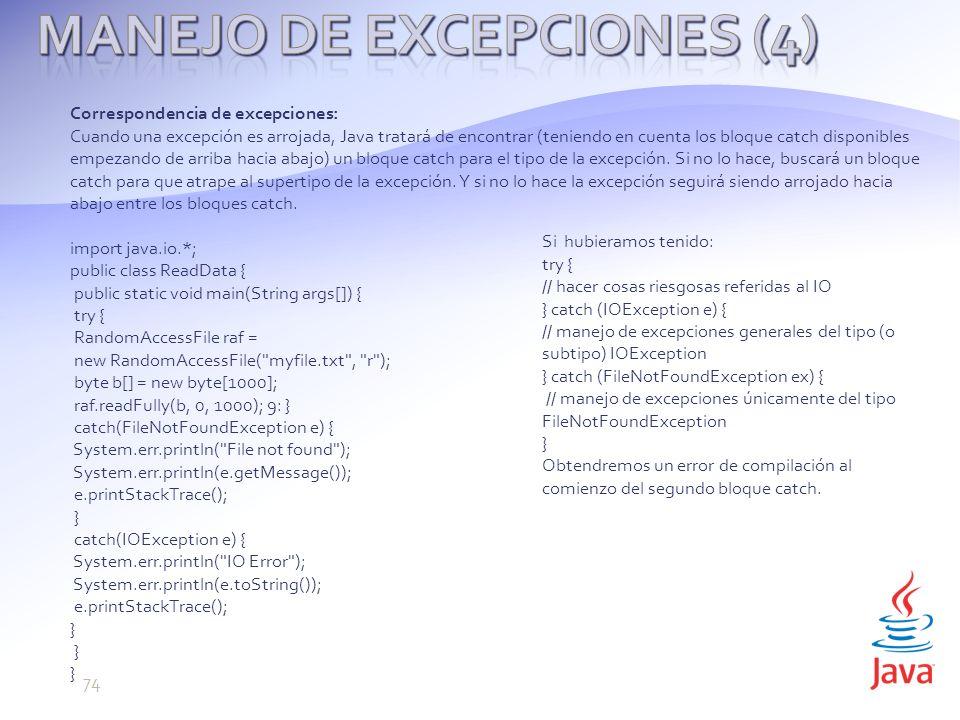 Manejo de Excepciones (4)