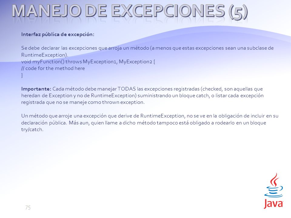 Manejo de Excepciones (5)