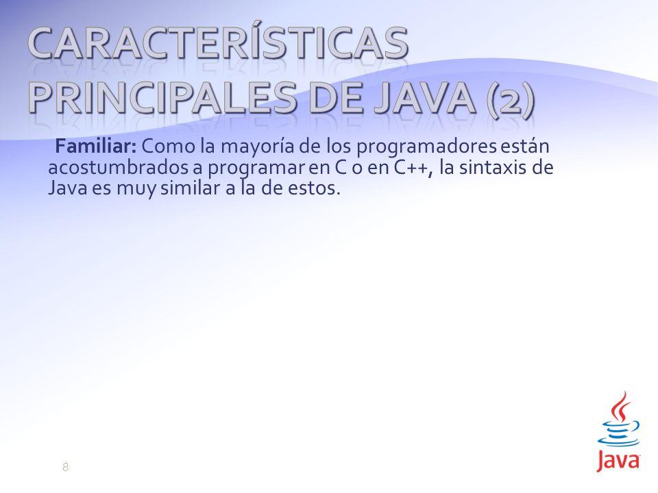 Características principales de Java (2)