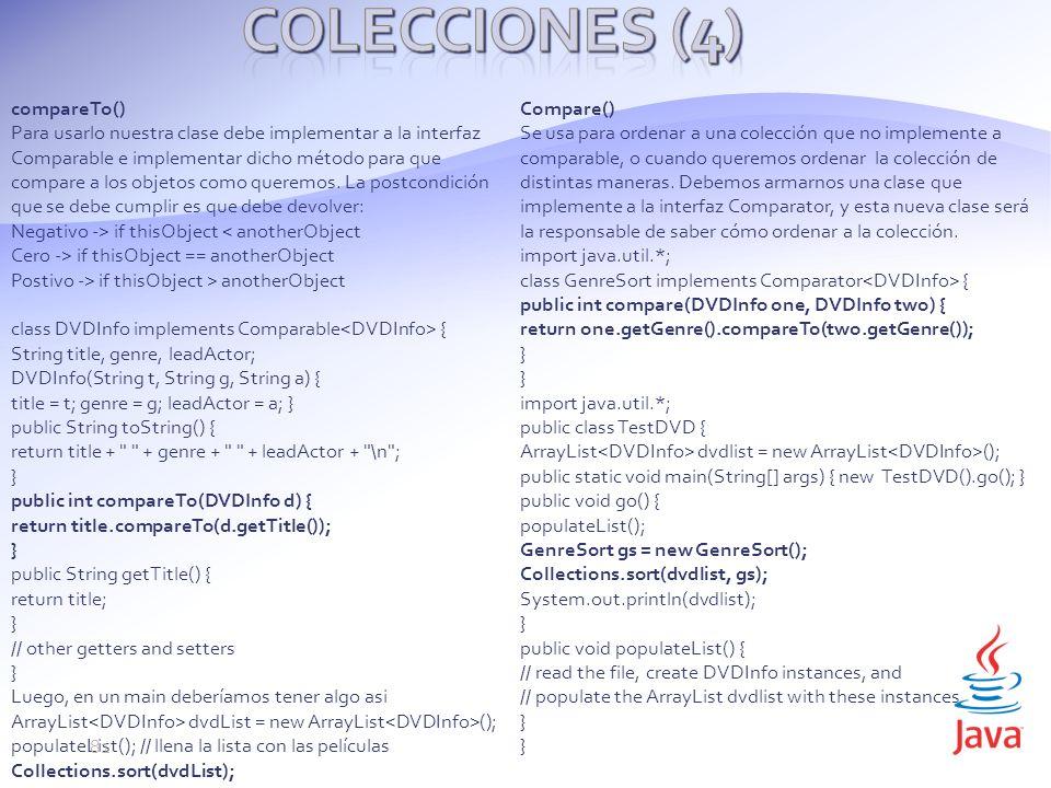 Colecciones (4) compareTo()