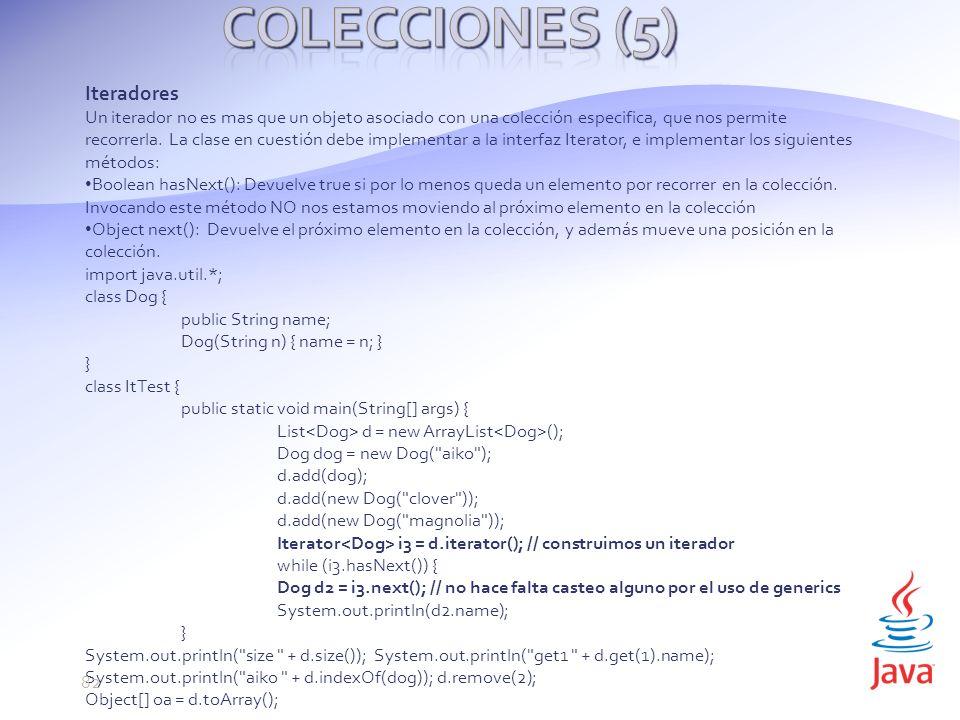 Colecciones (5) Iteradores