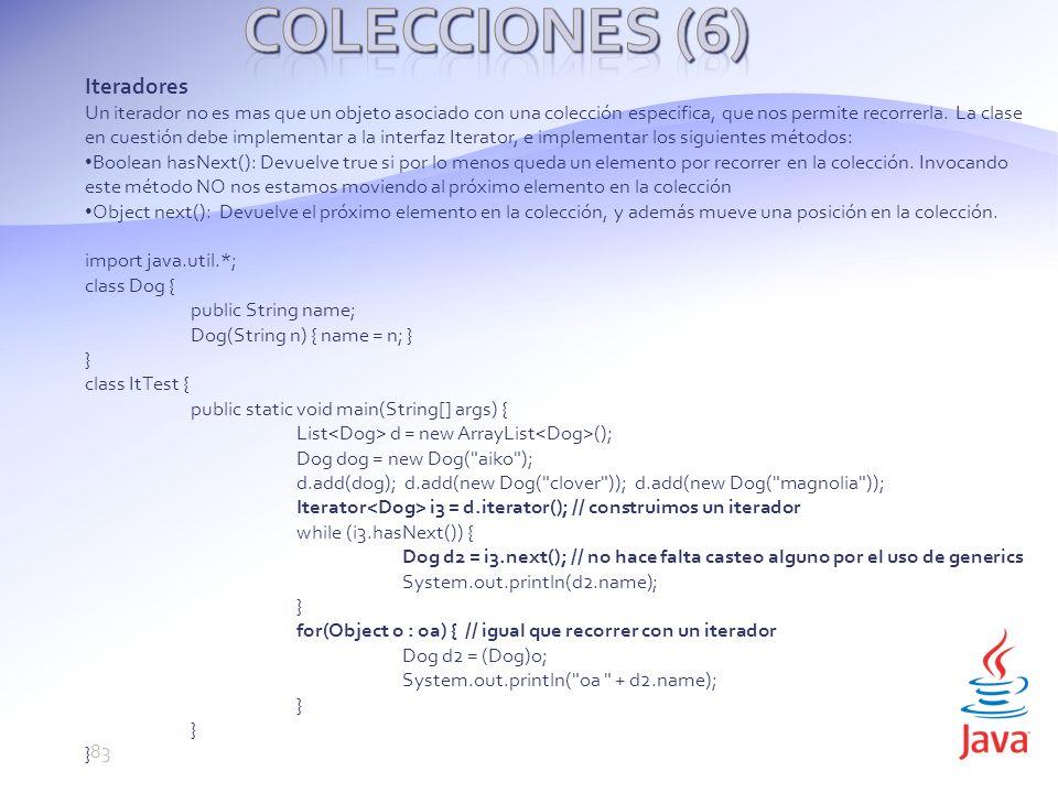 Colecciones (6) Iteradores