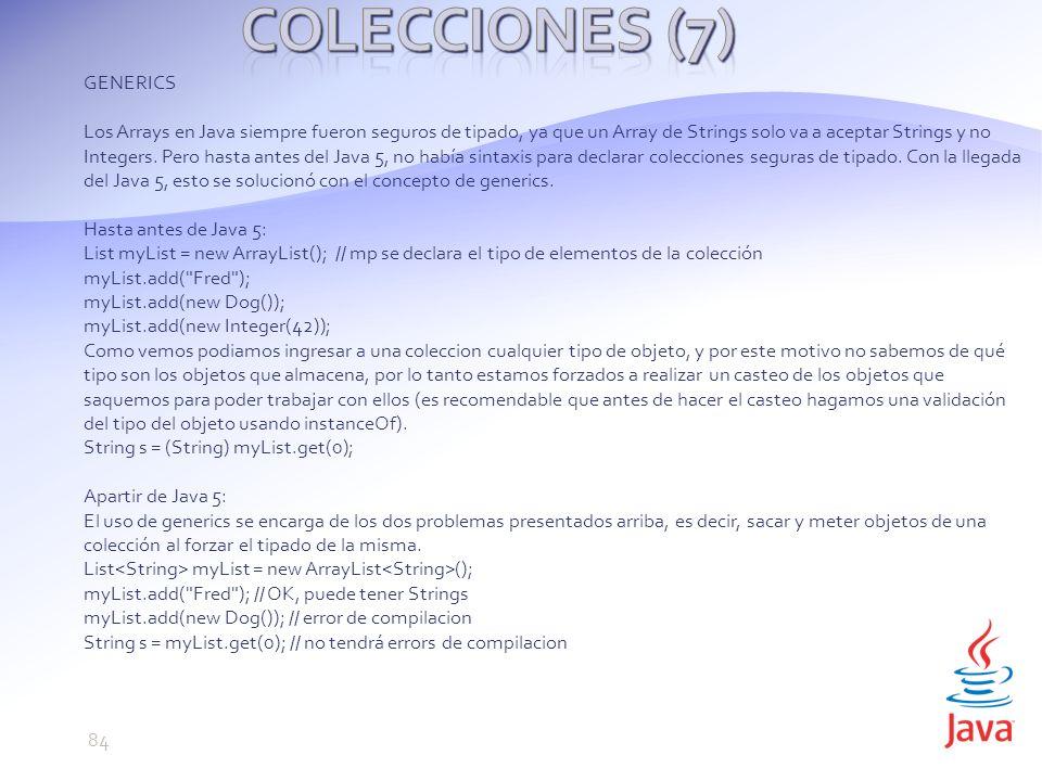 Colecciones (7) GENERICS