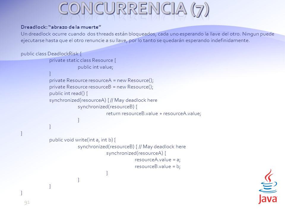 Concurrencia (7) Dreadlock: abrazo de la muerte