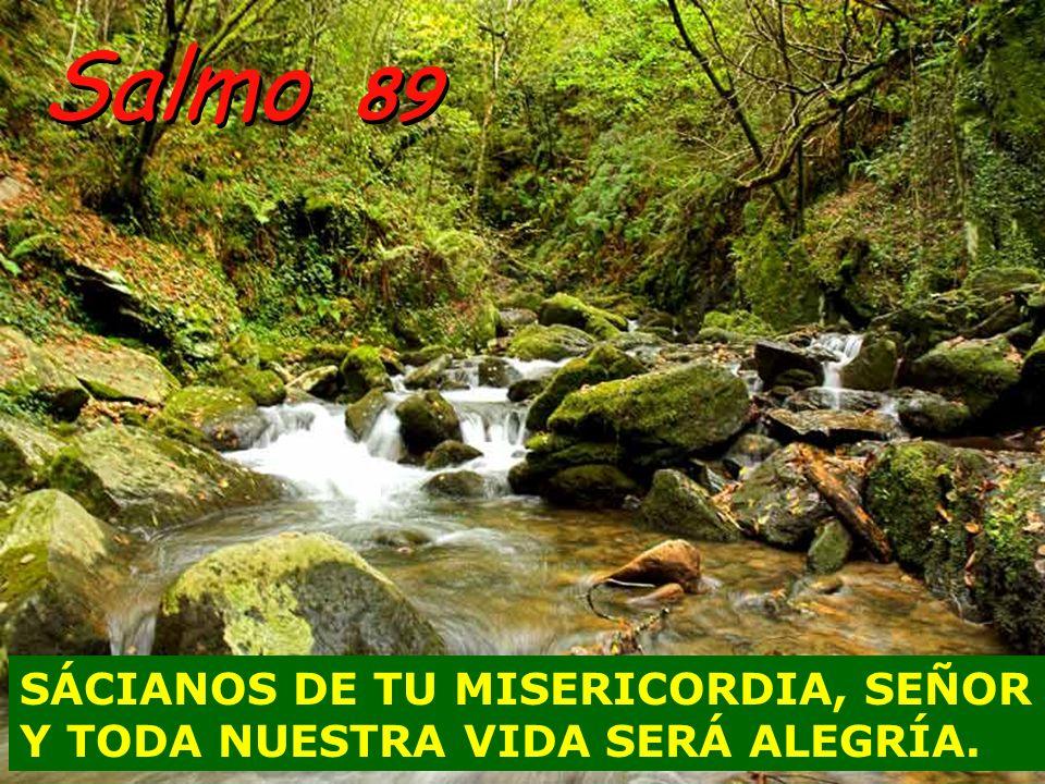 Salmo 89 SÁCIANOS DE TU MISERICORDIA, SEÑOR Y TODA NUESTRA VIDA SERÁ ALEGRÍA.