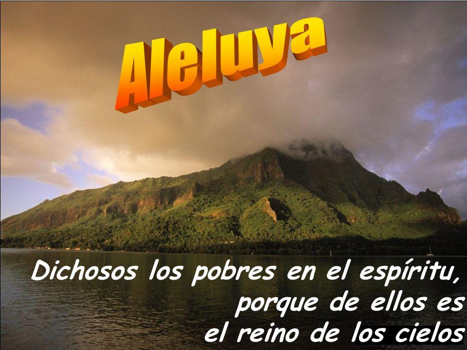Aleluya Dichosos los pobres en el espíritu, porque de ellos es el reino de los cielos.